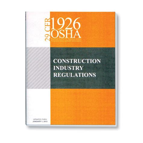 prevention and osha compliance books osha 1926 construction industry regulations book