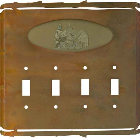 rustic cabin light switch plates outlet covers wallplates