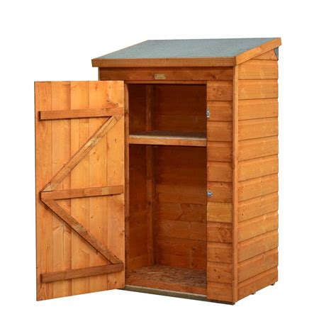 Bosmere Mini Store 3 ft. x 2 ft. Wood Storage Shed A049