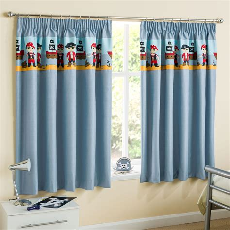 Pirates Children S Blackout Pencil Pleat Curtains Blue