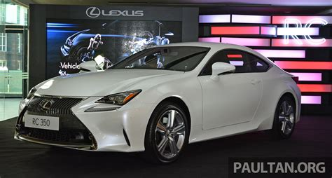 lexus e250 lexus rc coupe launched in malaysia rc 350 luxury for