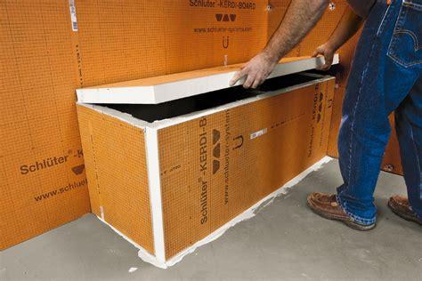 foam shower bench schluter 174 kerdi board kerdi board panels building