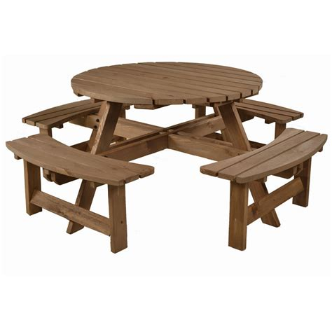 wooden picnic benches wooden picnic bench set 8 seater homegenies
