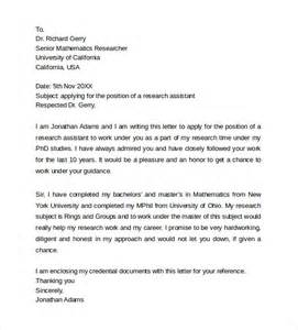cover letter postdoctoral position cover letter for postdoctoral sle