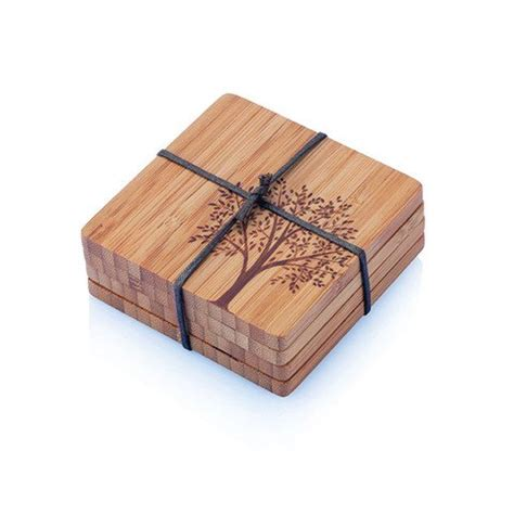Katana Motif Bambu 1 coaster w tree motif 4ct 1x4 count each by bambu