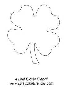 Full page leaf template four leaf clover stencil four leaf clover
