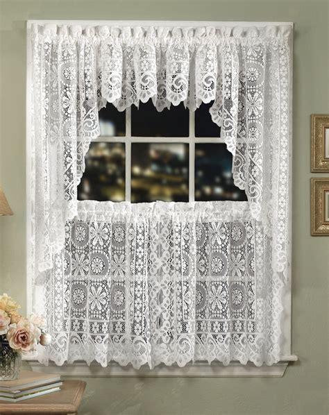 cream lace curtains hopewell lace kitchen curtains cream lorraine jabot