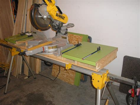 chop saw bench woodworking projects for miter saw diy woodworking projects