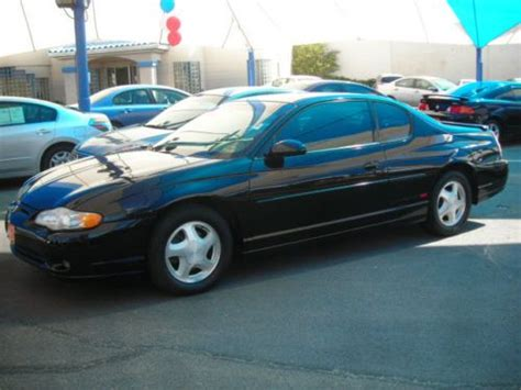 sell new 2000 chevy mont carlo ss orig 70 000 mi blk v6 leath pwr heated seats cold air in