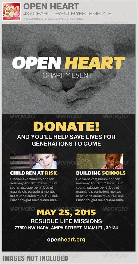Open Heart Charity Event Flyer Template Event Flyer Templates Event Flyers And Flyer Template Charity Event Flyer Templates Free