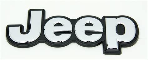 Jeep Badge Chrome Jeep Tailgate Badge Mopar 68203661aa 68203661aa