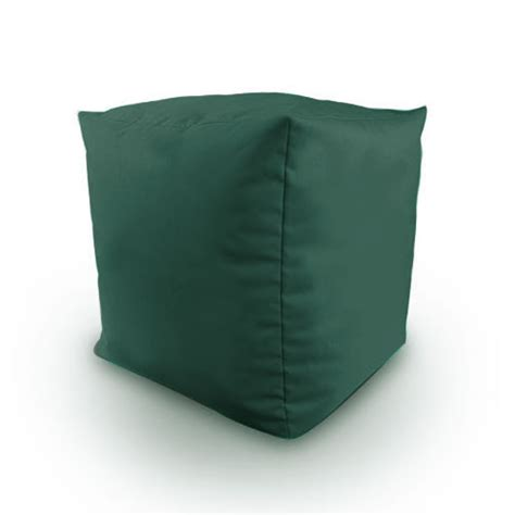 Bean Bag Cube Cotton Twill Filled Bean Bag Cube Footstool Poufe Seat