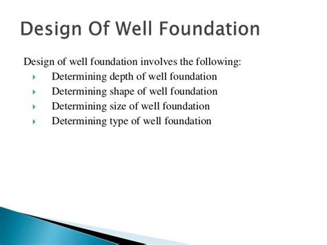 Design Criteria Of Well Foundation | design and construction of well foundations