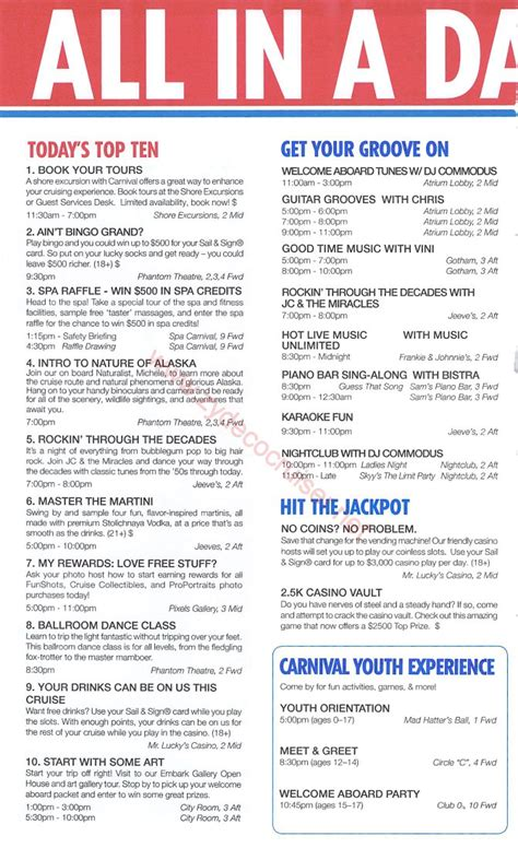 The Miracle Times Carnival Miracle Alaska Cruise Time 8 Day Glacier Bay Day 1 Page 2