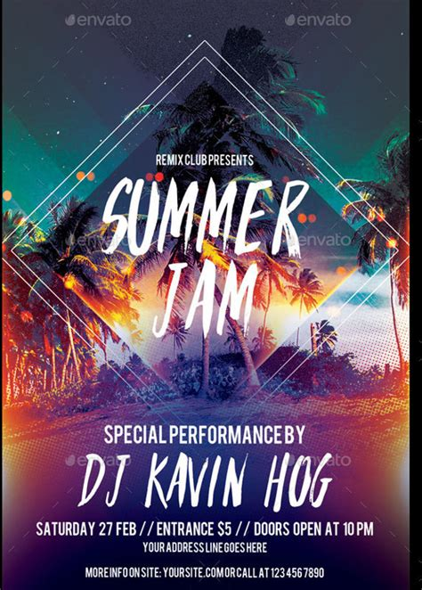 cool flyer templates free 20 summer flyer templates psd vector eps jpg