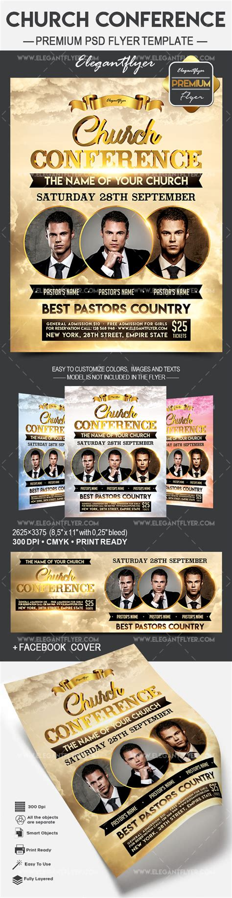 Church Conference Flyer Psd Template By Elegantflyer Conference Flyer Template
