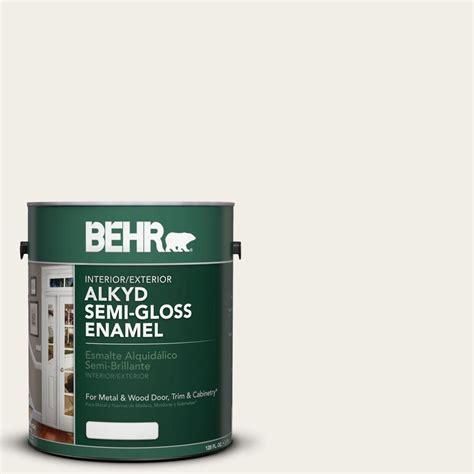 gloss paint behr 1 gal ae 1 rushmore stone semi gloss enamel alkyd