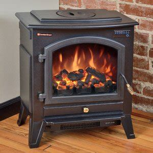 comfort smart vermont black electric fireplace