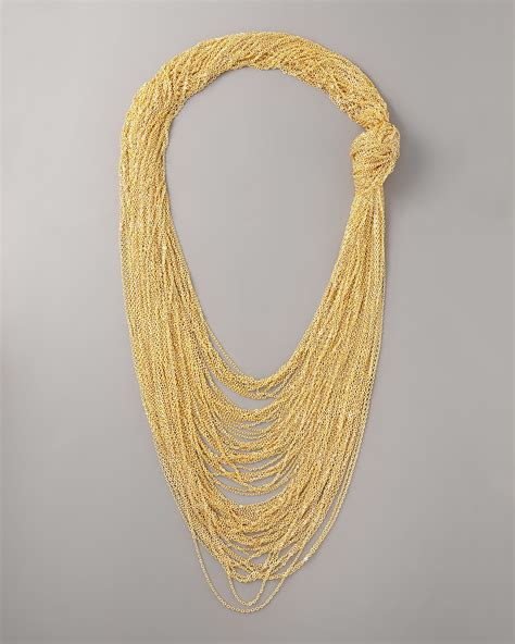 robert rodriguez jewelry robert rodriguez knotted chain necklace in gold lyst