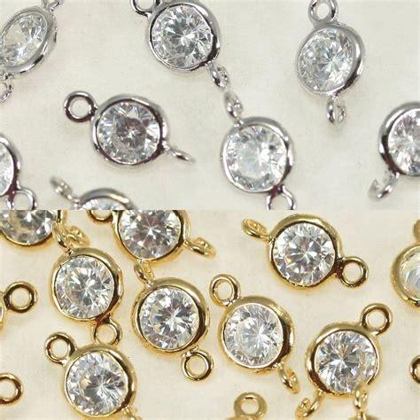 jewelry metal work rhinestone connectors metal pendant earrings