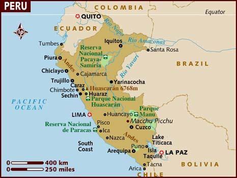 map of peru map of peru