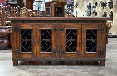wrought iron tv table the alamo tv stand is a solid mesquite tv stand featuring