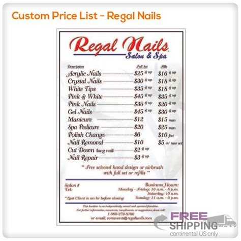 nail salon price list template 26 superb cost of nails ledufa