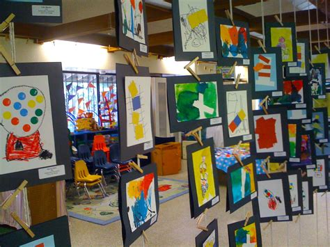 Art Show Ideas | kids art market art show at sutterville preschool