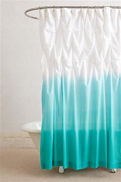 ruffle ombre shower curtain ocean blue white ombre ruffled shower curtain