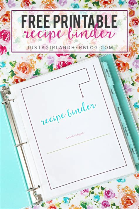 How To Make A Book Out Of Printer Paper - free printable recipe binder just a and