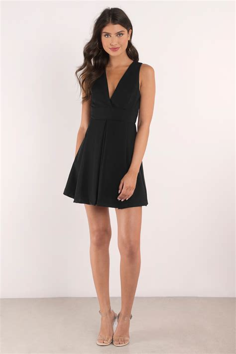 Pleated Dress 16091 Black black dress plunging dress beautiful black dress