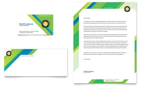 tennis club c business card letterhead template