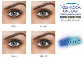 daily colored contacts freshlook 1 day colorblends 10 pack contacts cow