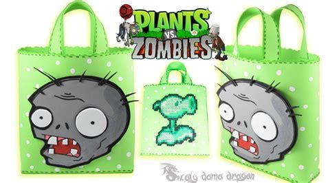 Moldes Plata Vs Zombie Para Muecos De Goma Eva | bolsita o dulcero de plantas vs zombie en foamy o goma eva