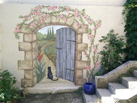 Secret Garden Mural Garden Mural Doors And Paintings Secret Garden Wall