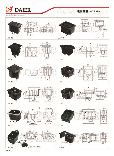 Ac Japan Quality universal electrical receptacle types electrical