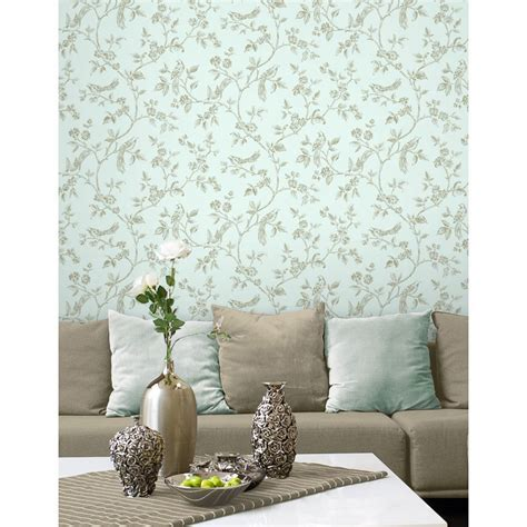 duck egg blue feature wallpaper gallery