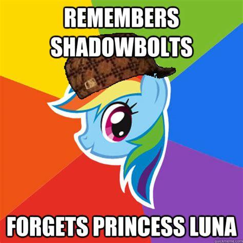 Meme Luna - remembers shadowbolts forgets princess luna scumbag