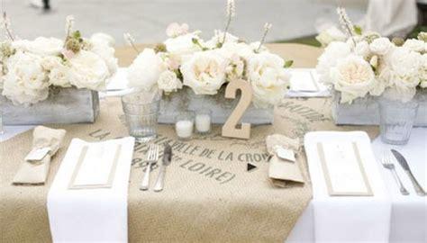 Dekoideen Tisch Hochzeit by Tisch Decken Mit Sackleinen Freshouse
