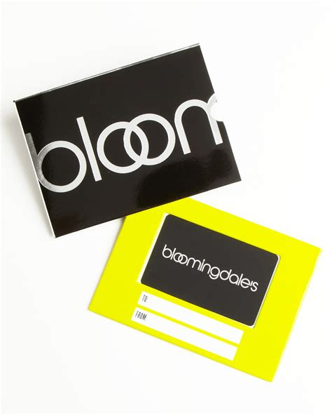 Bloomingdale Gift Card - only at bloomingdale s gift card with black box sleeve bloomingdale s