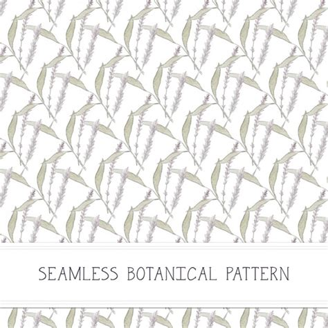 Botanical Pattern Ai | hand painted botanical pattern vector free download