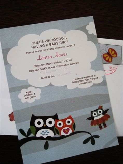 Baby Shower Invitations With Owl Theme by My S Owl Themed Baby Shower Fab Fatale