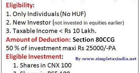 deduction under section 80ccg how to claim deduction rajiv gandhi equity saving schme