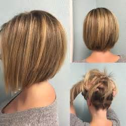 medium bob hairstyle front and back v cut hairstyle with layers medium length