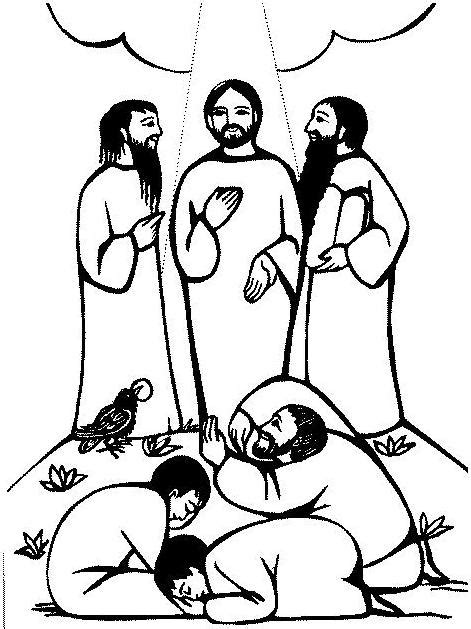 coloring pages jesus transfiguration transfiguration of jesus coloring pages transfiguration