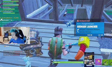 fortnite usernames blows up twitch fortnite the blemish