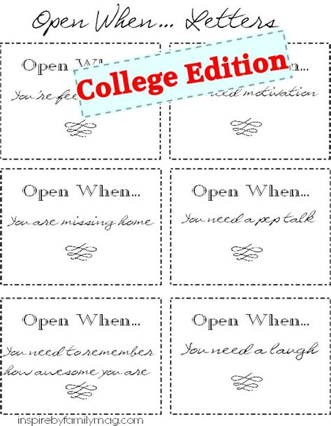 college send gifts open when letters open letter open when letters and gifts