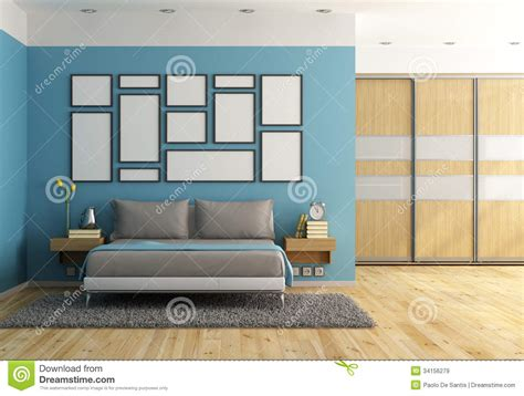 modern blue bedroom blue modern bedroom royalty free stock images image
