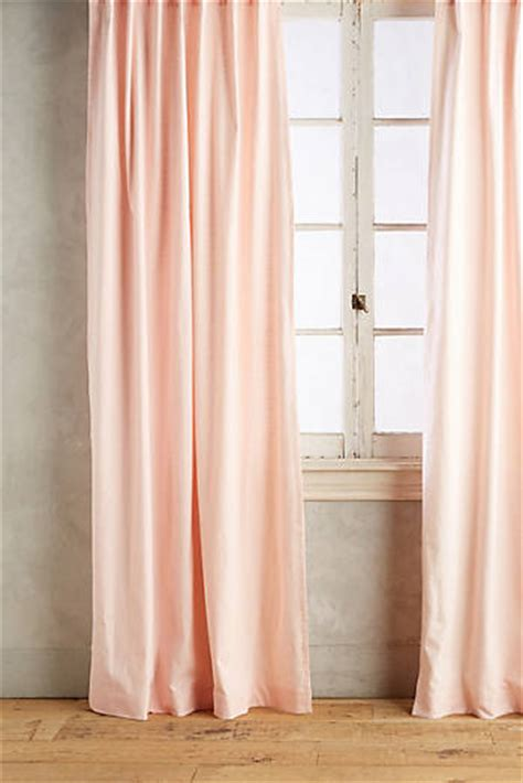 light peach curtains curtains drapes anthropologie
