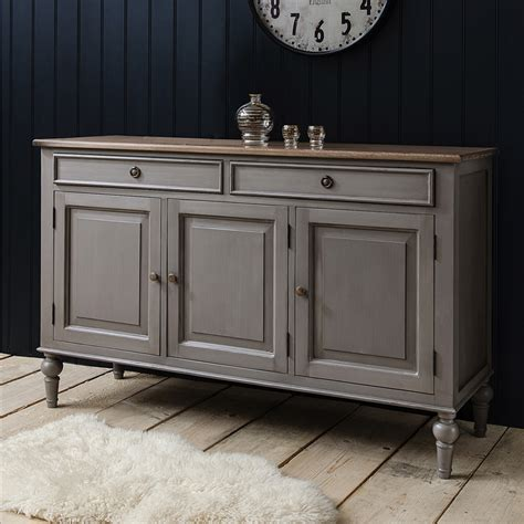 Grey Dining Room Sideboard Painted Sideboard With Wooden Top Grey Sideboards